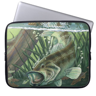Largemouth Bass Fishing Laptop Sleeve