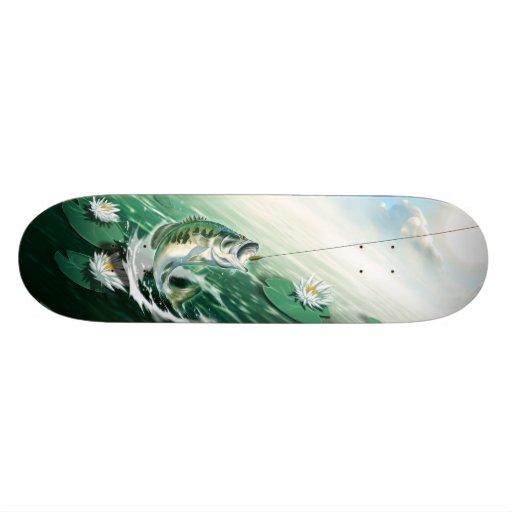 Largemouth Bass Fishing Skate Board Decks