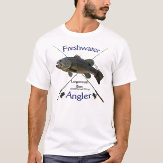 Largemouth Bass Freshwater angler fishing Tshirt. T-Shirt