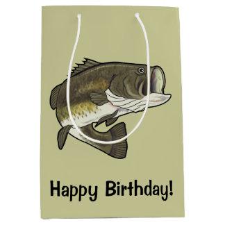Largemouth Bass Happy Birthday Medium Gift Bag