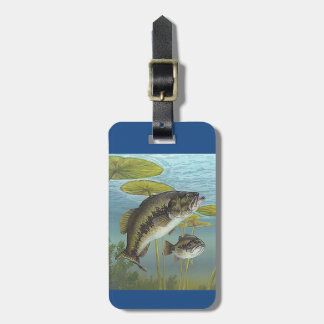 Largemouth Bass Luggage Tag