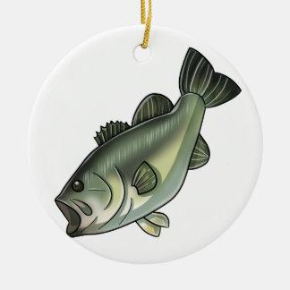 Largemouth Bass Round Ceramic Ornament