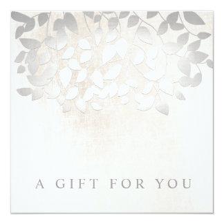 L'argent part du certificat-prime de marbre de spa carton d'invitation  13,33 cm