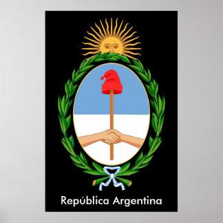 L'Argentine Republica - affiche d'emblème