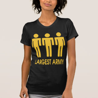 Largest Army - Military Yellow T-Shirt