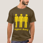 Largest Army Yellow T-Shirt