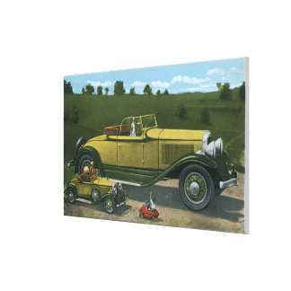 Largest Car in World, Studebaker Proving Canvas Print