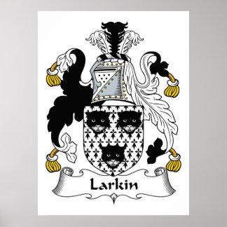 Larkin Family Crest Poster