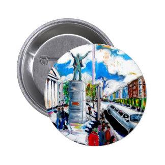 larkin monument oconnell street dublin 2 inch round button