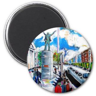 larkin monument oconnell street dublin 2 inch round magnet