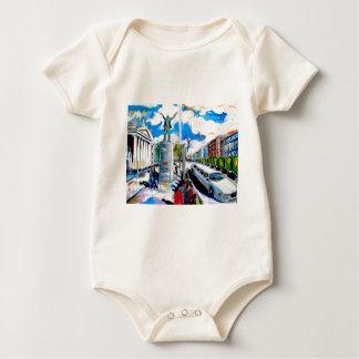 larkin monument oconnell street dublin baby bodysuit