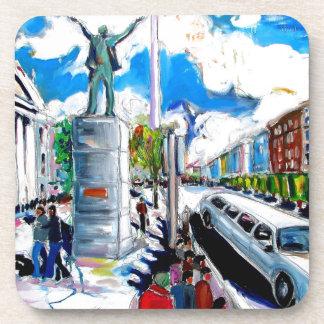 larkin monument oconnell street dublin coasters