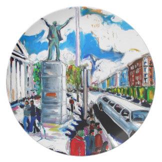 larkin monument oconnell street dublin dinner plates