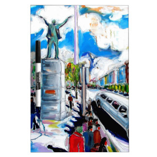 larkin monument oconnell street dublin dry erase board