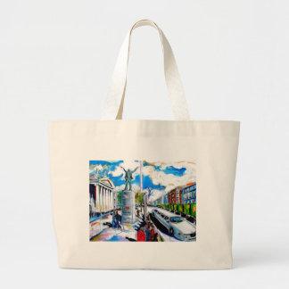 larkin monument oconnell street dublin large tote bag