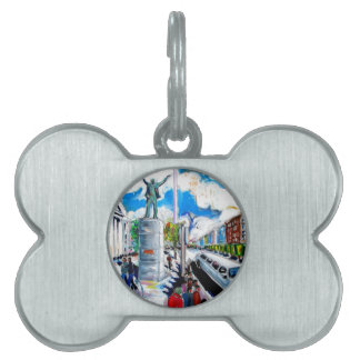 larkin monument oconnell street dublin pet ID tags