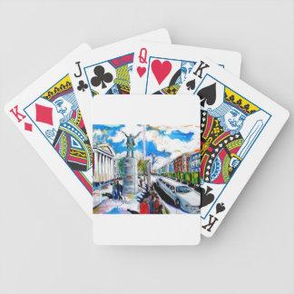 larkin monument oconnell street dublin poker deck