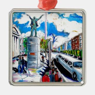 larkin monument oconnell street dublin Silver-Colored square ornament