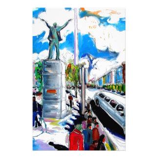 larkin monument oconnell street dublin stationery design