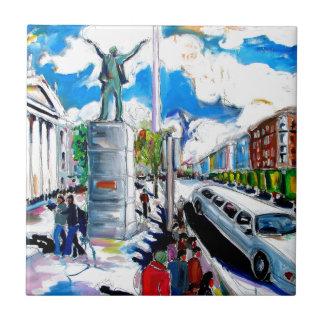larkin monument oconnell street dublin tiles