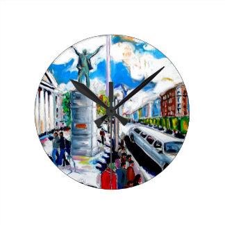 larkin monument oconnell street dublin wall clock