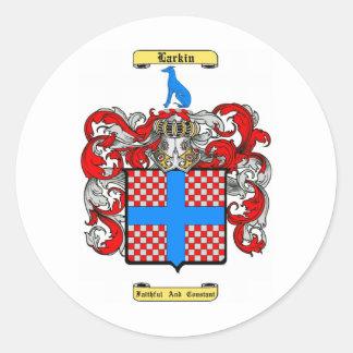 larkin round sticker