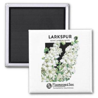Larkspur, Giant Imperial White, F. Lagomarsino & S Magnet