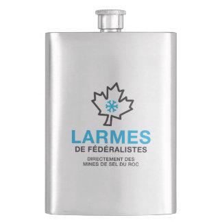 Larmes de Fédéraliste Humour Quebec Canada Hip Flask