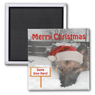 L'arrêt de Père Noël de berger allemand d'aimant i