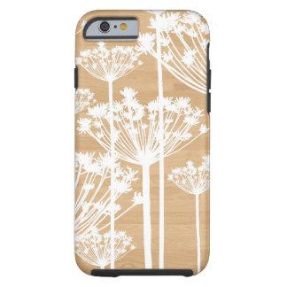 L'arrière - plan en bois fleurit le motif floral coque iPhone 6 tough