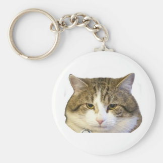 Larry the Downing Street Cat Face Keychain