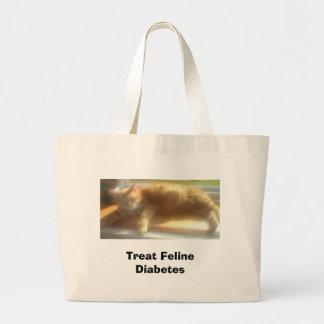 LarrySunning, Treat Feline Diabetes Large Tote Bag