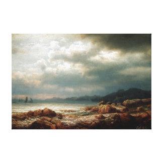 Lars Hertervig Coastal Landscape Canvas Print