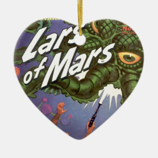 Lars of Mars and the Bug-eyed Tentacle Monster Ceramic Ornament