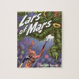 Lars of Mars and the Bug-eyed Tentacle Monster Jigsaw Puzzle