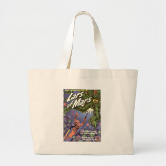 Lars of Mars and the Bug-eyed Tentacle Monster Large Tote Bag