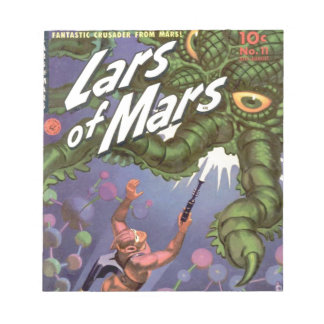Lars of Mars and the Bug-eyed Tentacle Monster Notepad