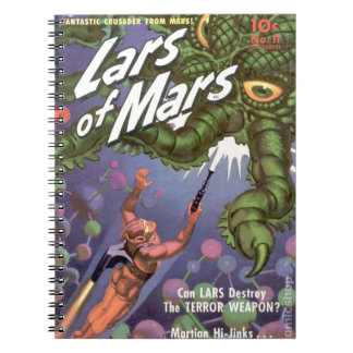 Lars of Mars and the Bug-eyed Tentacle Monster Spiral Notebook