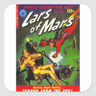 Lars of Mars Square Sticker