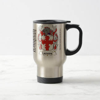 Larson Family Crest on a Travel Mug