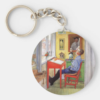 Larsson: Esbjorn Doing His Homework artwork Keychain