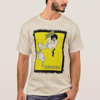 L'art Champagne de deco d'âge de jazz encourage la T-shirt