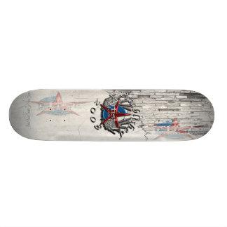 L'artiste J a établi le panneau 2008 Planches À Roulettes Customisées