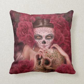 Las Calaveras Throw Pillow