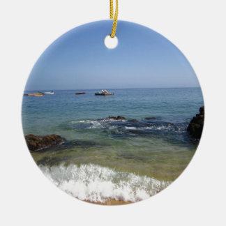 Las Caletas beach at Puerto Vallarta, Mexico Round Ceramic Ornament