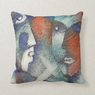 Las Caras Throw Pillow