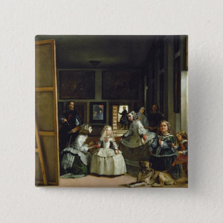 Las Meninas or The Family of Philip IV, c.1656 2 Inch Square Button