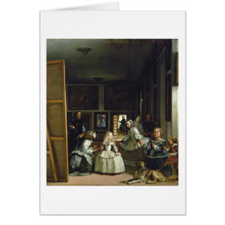Las Meninas or The Family of Philip IV, c.1656 Card
