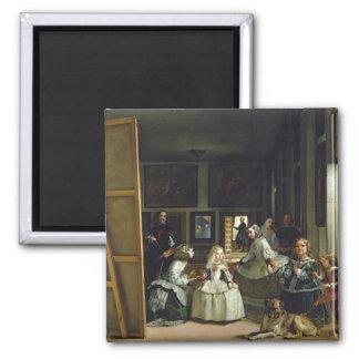 Las Meninas or The Family of Philip IV, c.1656 Square Magnet