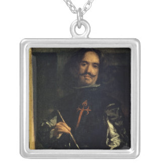 Las Meninas or The Family of Philip IV Silver Plated Necklace